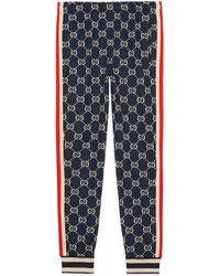 0bed0e3af9 Gucci - Pantalones de chándal con GG en jacquard - Lyst