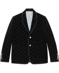 Gucci - Palma GG Velvet Jacket - Lyst
