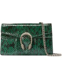 Gucci - Dionysus Super Mini Snakeskin Bag - Lyst