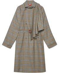 Gucci - Manteau en laine avec foulard amovible - Lyst