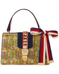 Gucci | Sylvie Multicolour Brocade Shoulder Bag | Lyst