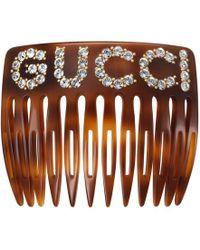 Gucci - Crystal Hair Comb - Lyst