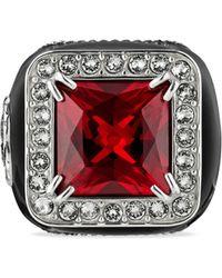 Gucci - Chevalière sertie de diamants à logo GG - Lyst