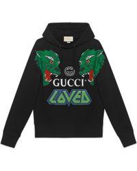 Gucci - Sudadera de Algodón con Tigres - Lyst