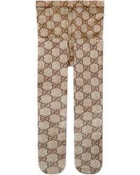 Gucci - Strumpfhose mit GG Muster - Lyst
