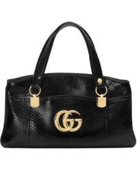 Gucci - Arli Large Python Top Handle Bag - Lyst d00f29cfa3b40