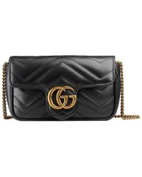 Gucci - Gg Marmont Matelassé Leather Super Mini Bag - Lyst