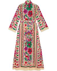 Gucci - Dress With Star Garden Print - Lyst