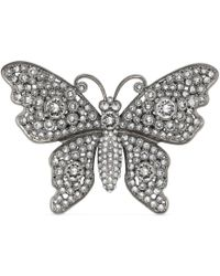 Gucci - Crystal Studded Butterfly Brooch - Lyst