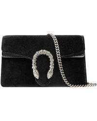 Gucci - Dionysus Velvet Super Mini Bag - Lyst