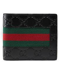 Gucci - Brieftasche mit Ausweisfach aus Signature mit Webstreifen - Lyst