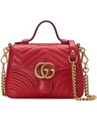 923b2df23 Gucci - Minibolso de Mano GG Marmont - Lyst
