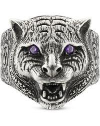 Gucci - Garden Ring mit Felinekopf - Lyst