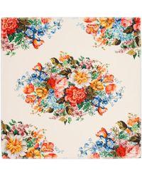 Gucci - Floral Print Silk Scarf - Lyst