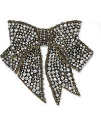 Gucci - Brosche mit Kristall-Schleife - Lyst
