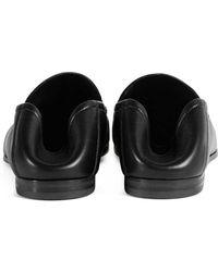 ca9e55f68e8 Lyst - Gucci Black Leather Horsebit Detail Loafers in Black for Men