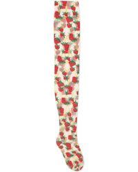 Gucci - Collants à imprimés Strawberry et Mors - Lyst
