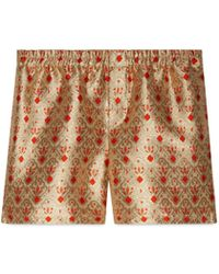 Gucci - Seashell Jacquard Fabric Shorts - Lyst