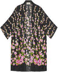 Gucci - Climbing Roses Print Pyjama Kimono - Lyst