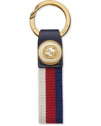 Gucci - Nylon Web Key Ring - Lyst