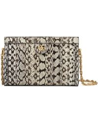 Gucci - Ophidia Small Snakeskin Shoulder Bag - Lyst