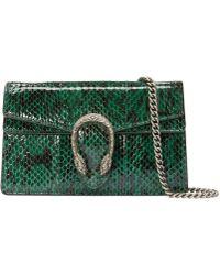 Gucci - Dionysus Super Mini Snakeskin Bag - Lyst