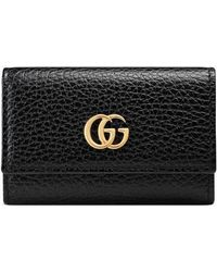 002801554 Gucci Soho Leather Zip-around Disco Wallet in Black - Lyst