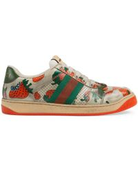 d37bebd9ab37 Lyst - Gucci Women s -dapper Dan G74 Sneaker in Brown