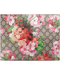a8f0d8bdeae1 Gucci - GG Blooms Large Cosmetic Case - Lyst
