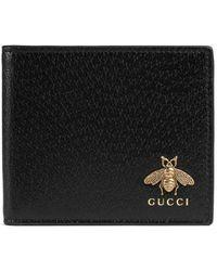Gucci - Portefeuille Animalier en cuir - Lyst