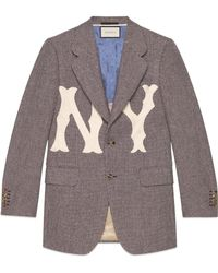 Gucci - Men's Jacket With Ny Yankees��� Patch - Lyst