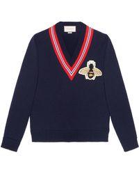 Gucci - Maglione in lana con ape - Lyst