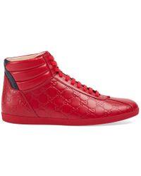 Gucci - Signature High-top Sneaker - Lyst