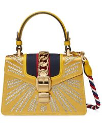 Sylvie GG velvet mini bag - Brown Gucci 9n7qy