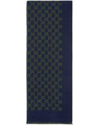 Gucci - Double Jacquard Gg Wool Scarf - Lyst