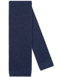 Gucci - Cravatta in seta e cashmere con ape sottonodo - Lyst