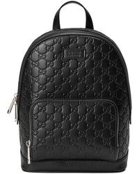 Gucci - Signature Leather Backpack - Lyst