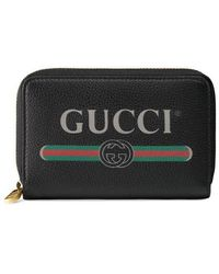 Gucci - Logo-print Leather Wallet - Lyst