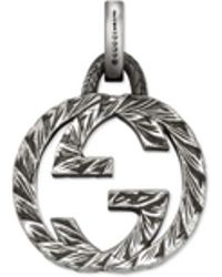 Gucci - Interlocking G Charm In Silver - Lyst