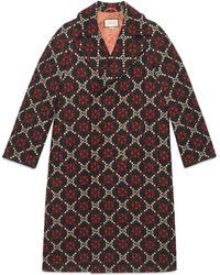 Gucci - Doppelreihiger Mantel mit Logo - Lyst
