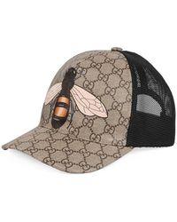 Gucci - Bee Print Gg Supreme Baseball Hat - Lyst