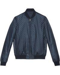 Gucci - Giubbotto imbottito in nylon GG jacquard reversibile - Lyst