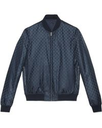 Gucci - Wendbare Bomberjacke aus GG Jacquard-Nylon - Lyst