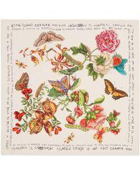 Gucci - Garden Coco Capitán Print Silk Scarf - Lyst