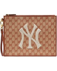 Gucci - Original GG Pouch With Ny Yankees��� Patch - Lyst