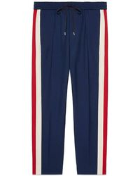 Gucci   Wool Cropped Pant With Stripe   Lyst