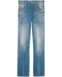 Gucci - Pantalon en jean droit - Lyst