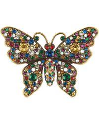 Gucci - Schmetterling-Brosche mit Kristallen - Lyst