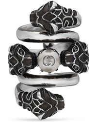 Gucci | Double Wrap Ring With Tiger Heads | Lyst