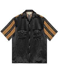 Gucci Bi-material Printed Bowling Shirt